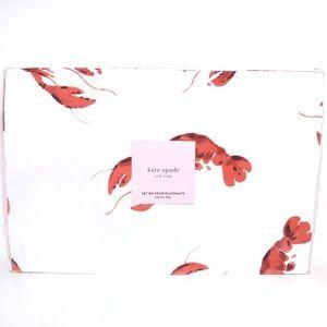 kate spade Kitchen - Kate Spade Lobster Print Placemats Set Of 4